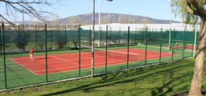 Fotografía de las pistas de tenis